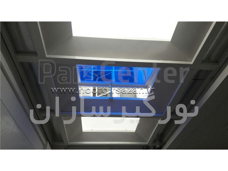 پوشش سقف حیاط خلوت بوسیله نورگیر حبابی در ونک