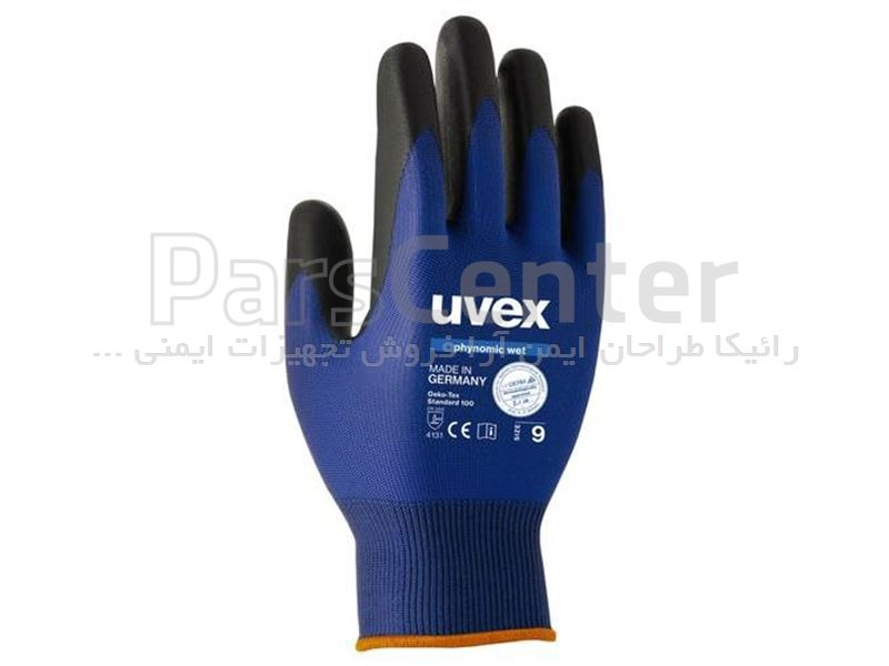 دستکش ایمنی مخصوص کارهای دقیق Uvex مدل Phynomic wet