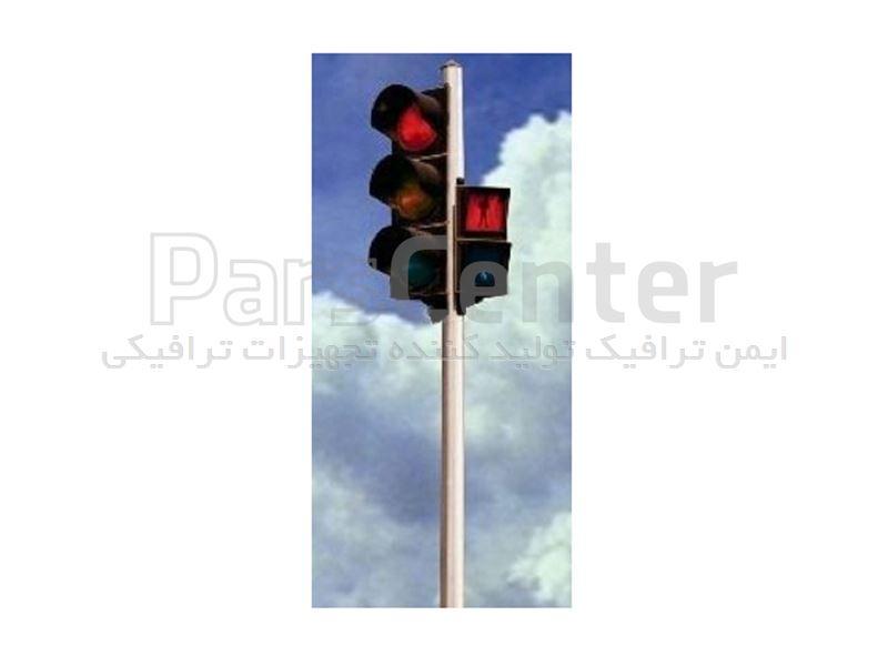 چراغ راهنمایی LED کامل و پایه ترافیکی