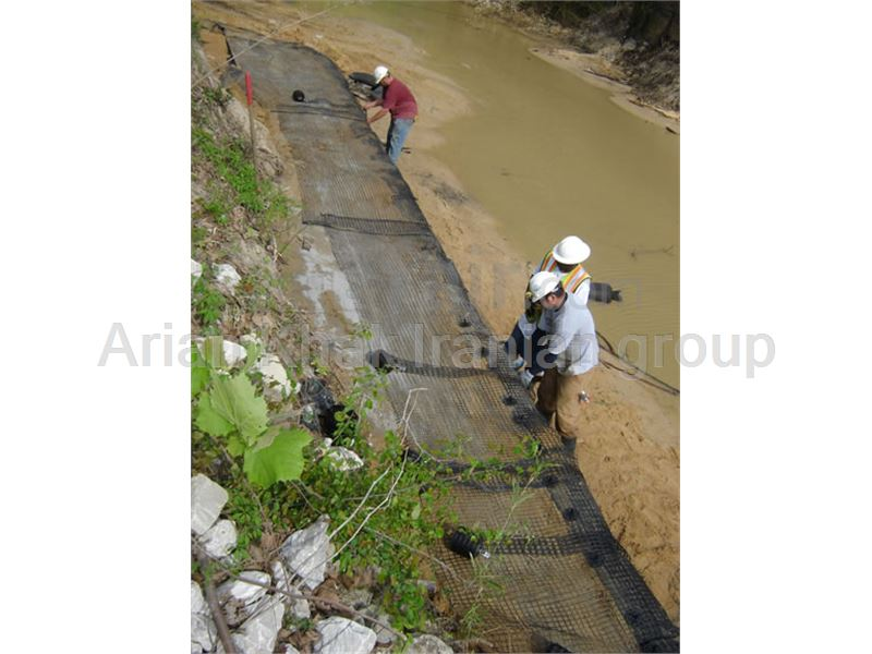 Use of Geogrid for passing swampy areas