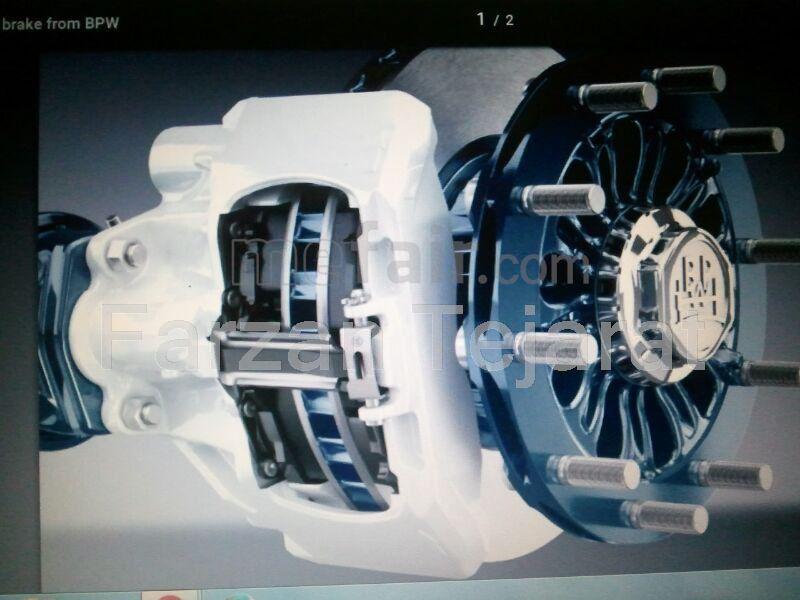 Disk and drum brake BPW tridem axle