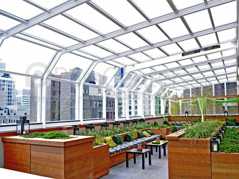 پوشش متحرک سقف (سقف پاسیو متحرک،سقف پاسیو ثابت، سقف نورگیر،پوشش ...مهندسی ...
