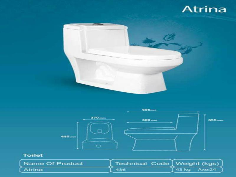 توالت فرنگی ایساتیس مدل آترینا آکس 24