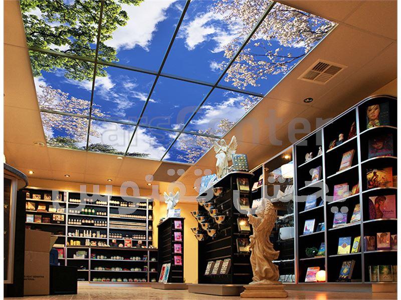 طراحی واجرای سقف آسمان نما و پنجره مجازی