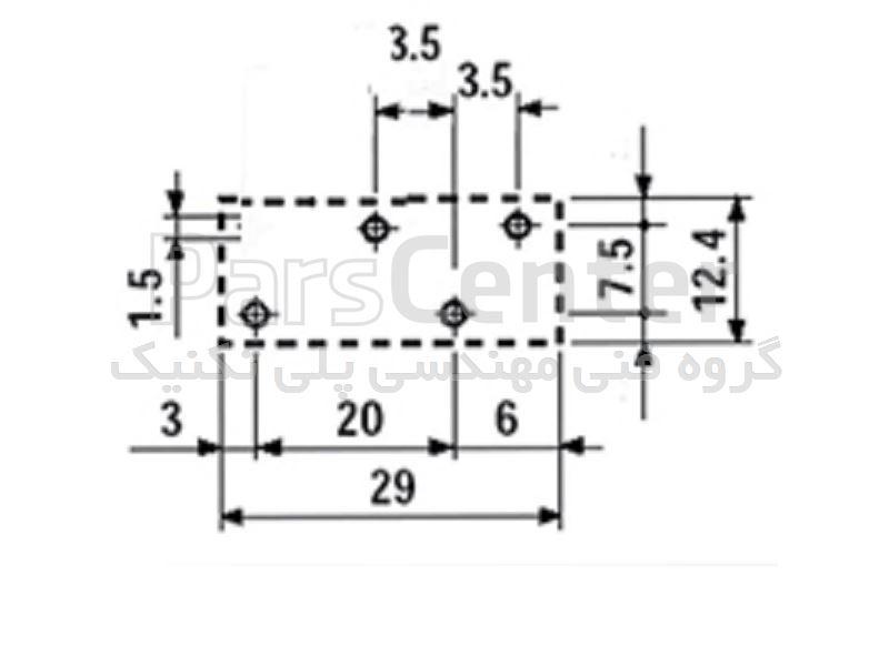 رله فیندر پایه سوزنی 5 پین مدل  40.31.9.060.0000