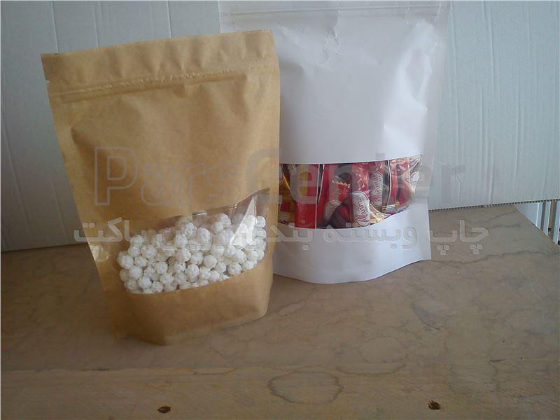 بسته بندی خشکبار و آجیل خیری پاکت پنجره دار خشکبار - محصولات پاکت در پارس سنتر