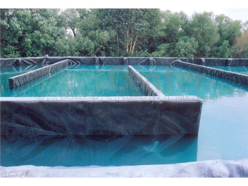 ساخت استخر دومنظوره پرورش ماهی و کشاورزی (ژئوممبران)