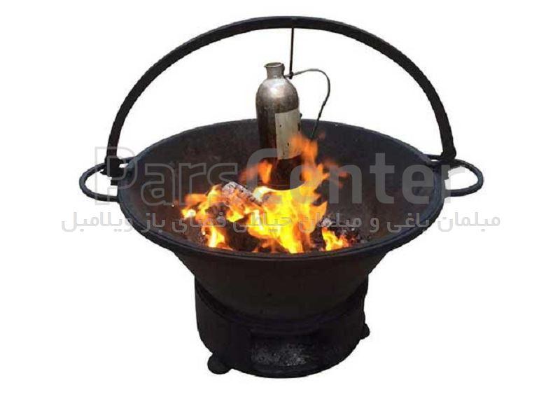 آتشدان هیزمی پرتابل گرد