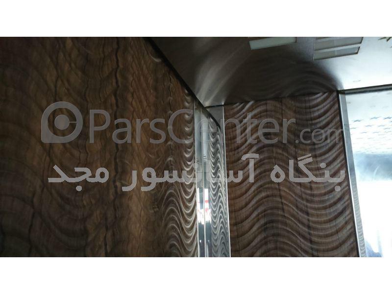 کابین آسانسور MDF استیل طرح موج