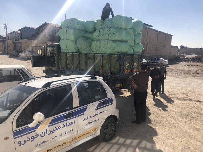 کمک به هموطنان سیل زده سیستان و بلوچستان توسط شرکت مدیران خودرو ایران