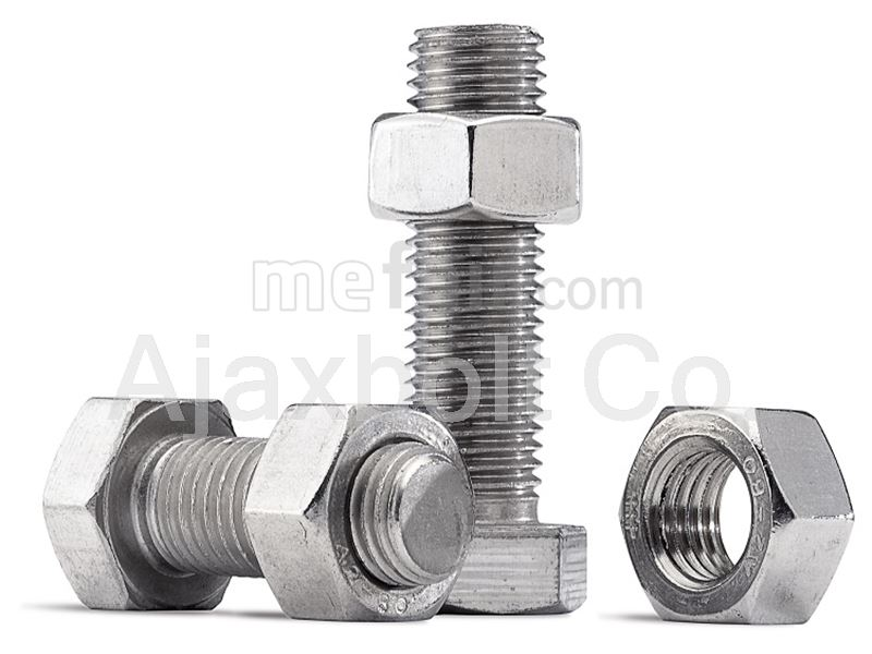 Low Carbon Steel hex bolt and nut