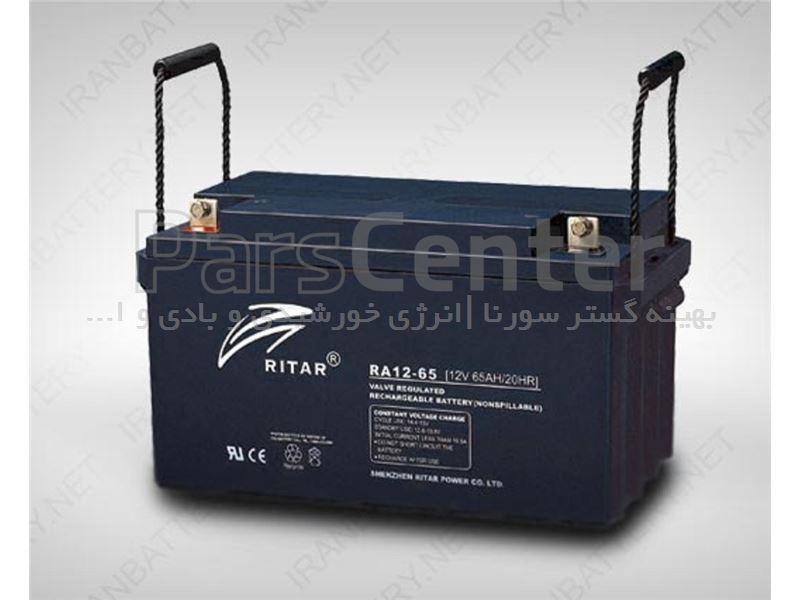 باتری 65 امپری یو پی اسریتار سیلدلیداسیدRittar65