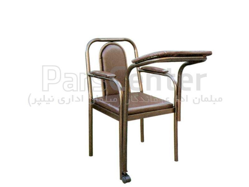 صندلی نماز فلزی با میز چرخدار