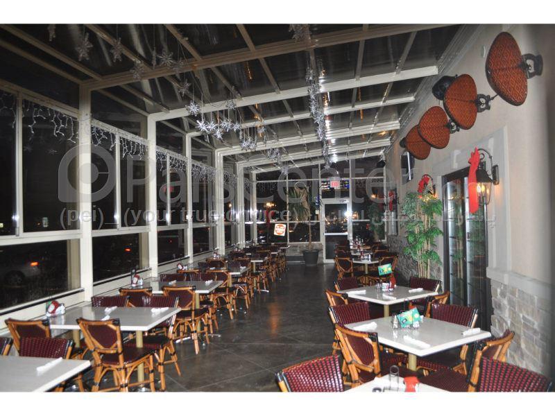 سیستم پوشش سقف متحرک رستوران مدل ال 20   The restaurant El movable roof system
