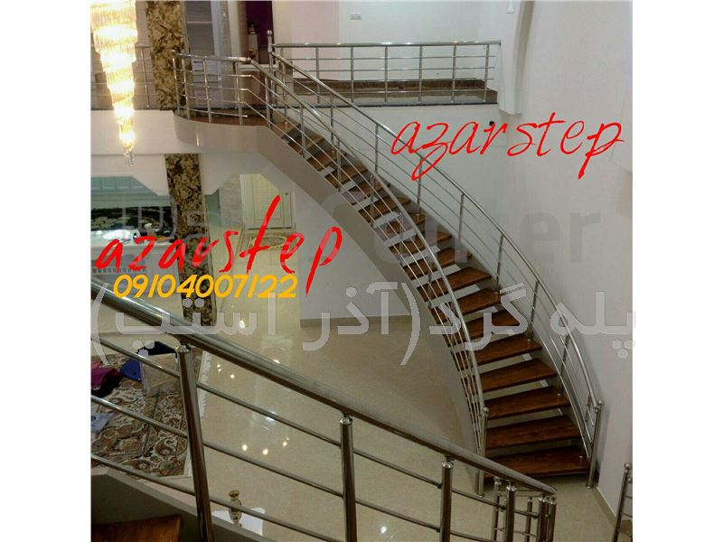 پله گرد دو محور باکس شمشیری-پله پیچ