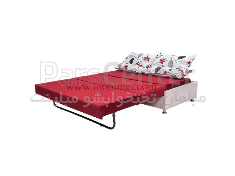 مبل تختخواب شو دو نفره خواب سه نفر نشیمن بدون دسته مدل بارون عرض 140