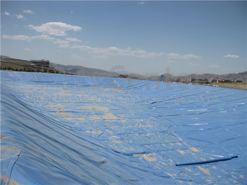 ساخت استخر ذخیره آب با ورق ژئوممبران آبی، شهرستان دماوند