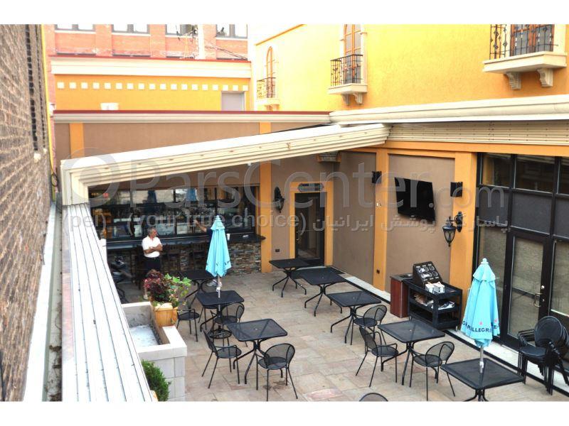 سیستم پوشش سقف متحرک رستوران مدل ال 4   The restaurant El movable roof system