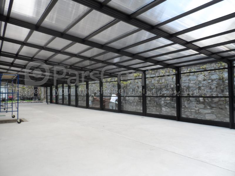 سقف متحرک حیاط -  حیاط مسجد - فضای سبز - رستوران Removable roof garden