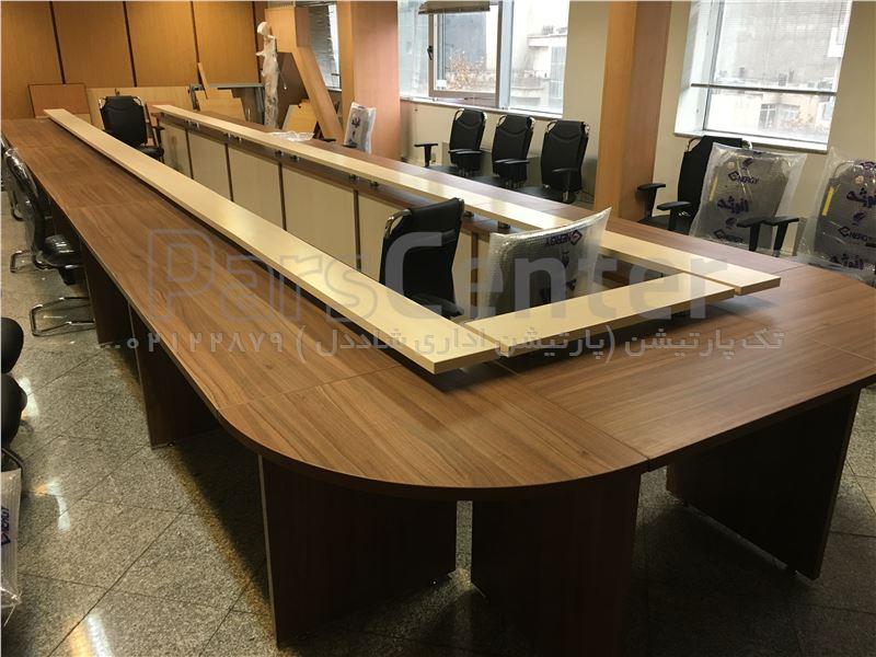 میز کنفرانس ٢٧ نفره برای شرکت کشتیرانی هوپاد دریا مجری تک پارتیشن