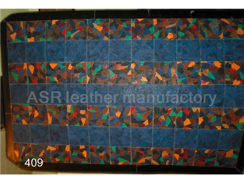 leather patchwork rug