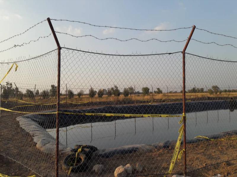 ایزولاسیون استخر ذخیره آب کشاورزی - قزوین