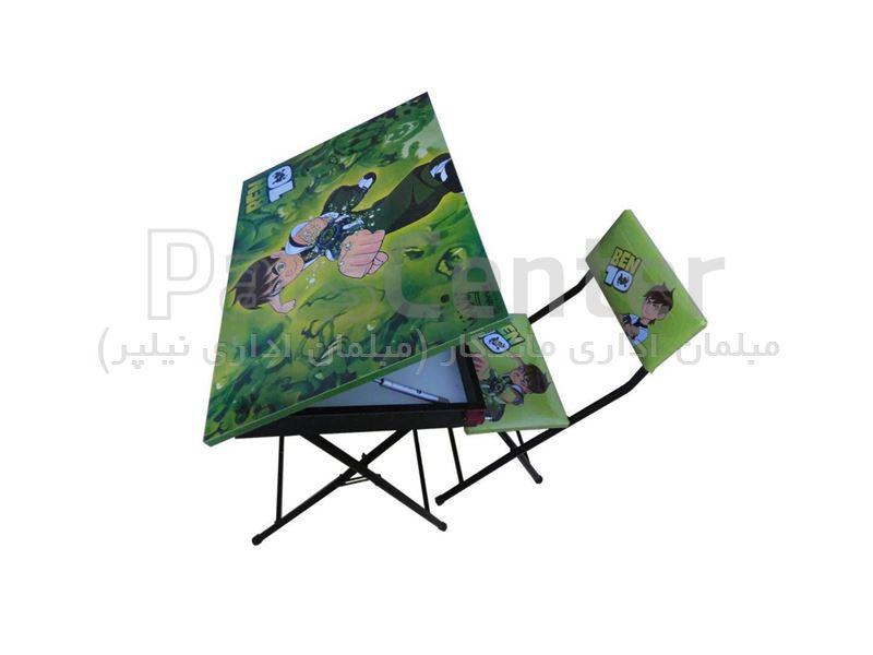 میز تحریر باکس دارباصندلی( طرح دار)