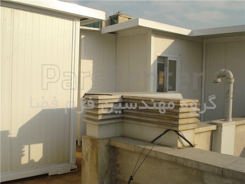 خانه های پیش ساخته پانلی پیچ و مهره ای روی بام