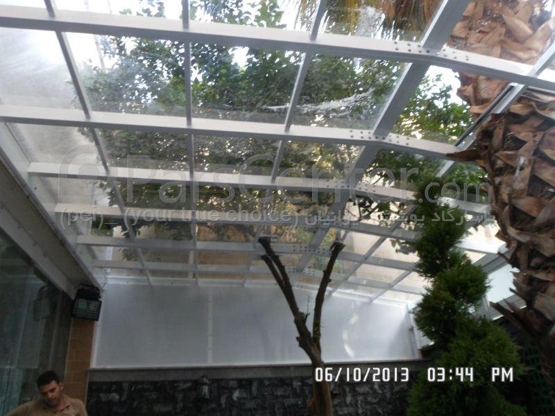 سقف ثابت حیاط حسینیه کوثری