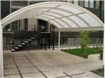 پوشش سقف پارکینگ با ورق پلی کربنات PS PK8