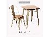 میز و صندلی چوب و فلز - DRK-501iW