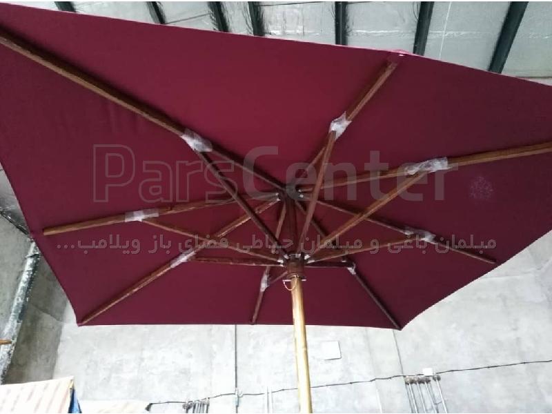 چتر و سایه بان پایه وسط 3در3مربع چوبی