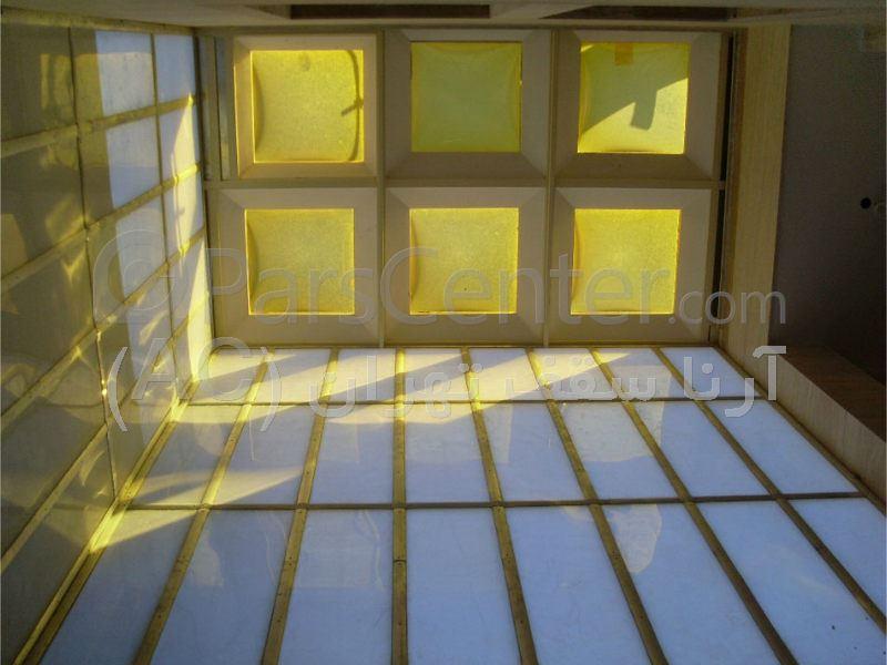 پوشش نورگیر پشت بام با سازه حبابی (یافت آباد)