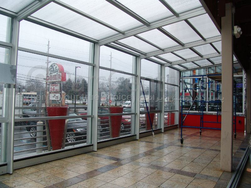 سیستم پوشش سقف متحرک رستوران مدل ال 17   The restaurant El movable roof system
