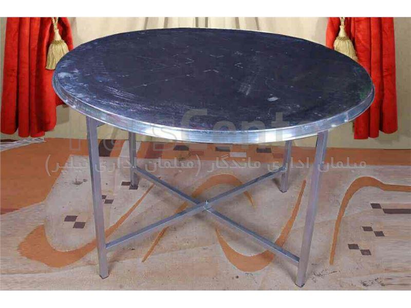 میز نهارخوری با پایه تاشو فلزی جهت تالار