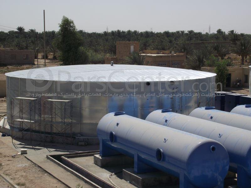 مخزن ذخیره آب تا حجم 3میلیون لیتر