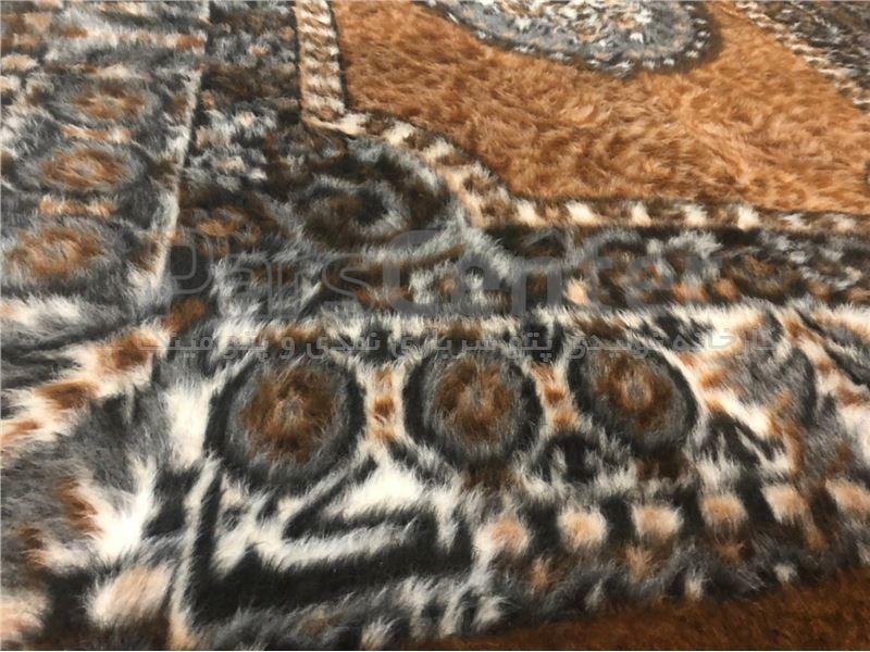 پتو مینک قالیچه شکلاتی رنگ یکتا