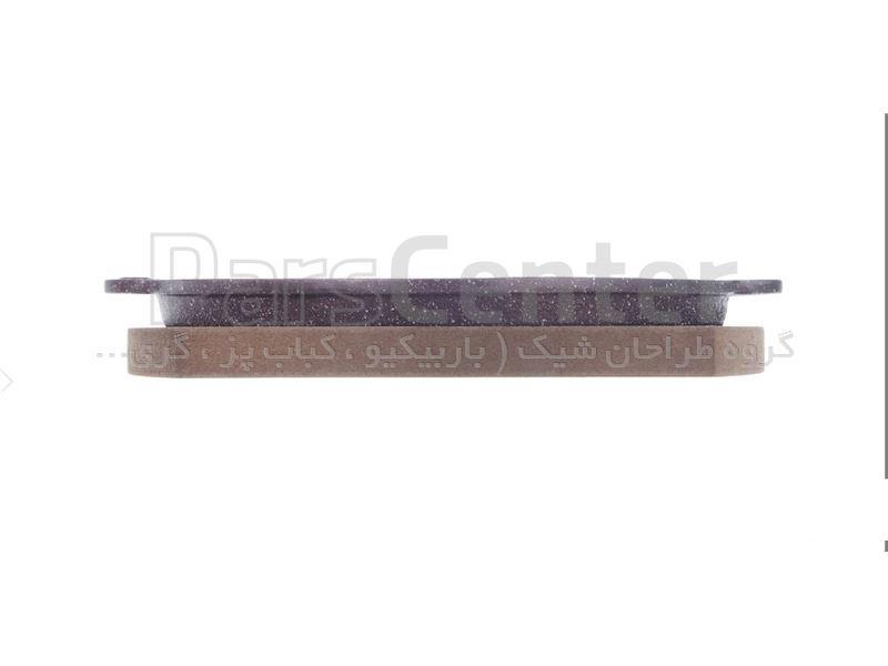 تابه چدنی گرد با استند چوب قطر 21.5 سانتی متر