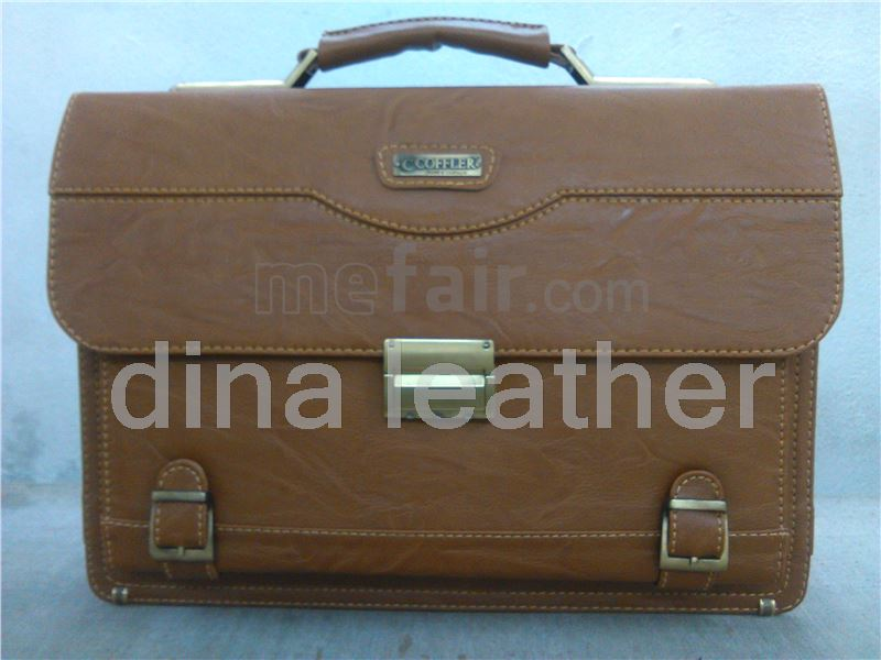 the artificial leather combination lock briefcase