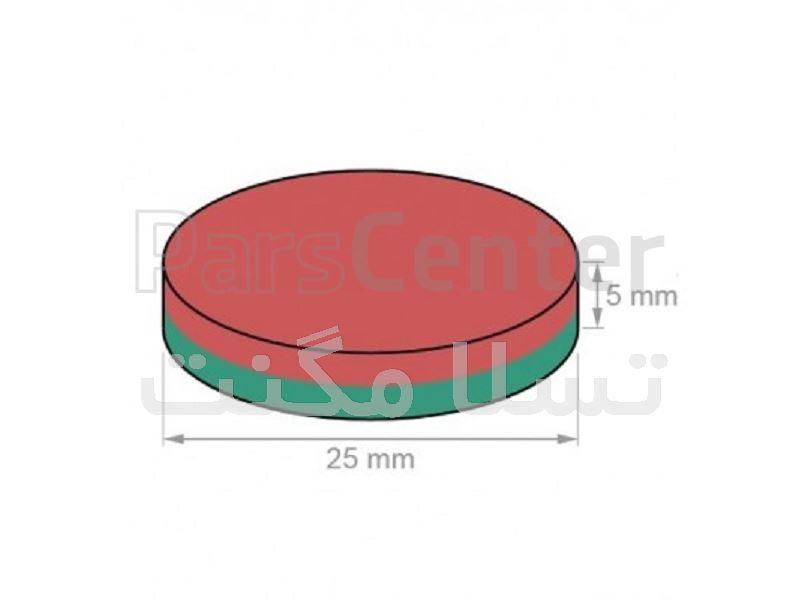 آهنربا استوانه ای ND 25X5