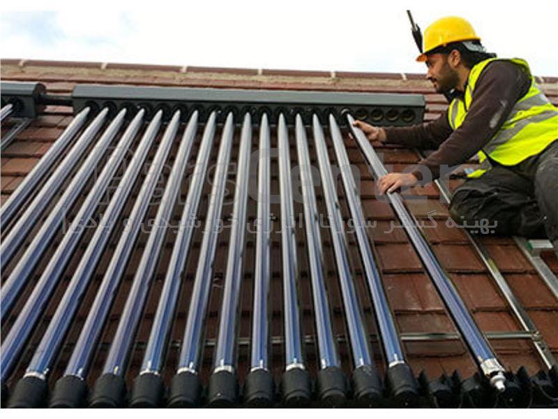 آبگرمکن خورشیدی (سولار) 200 لیتری کویل دار (پر فشار)