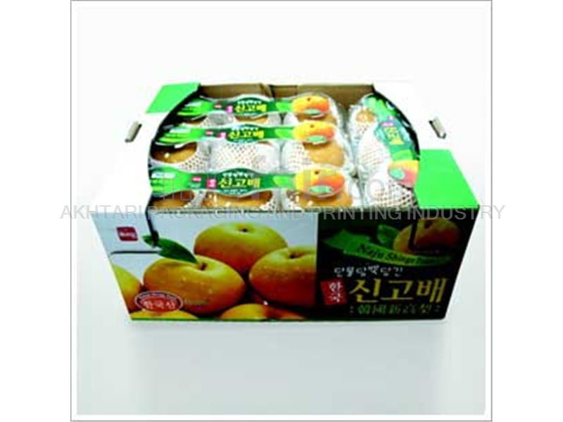 Corrugated box with columns for fruit and vegetable - packaging