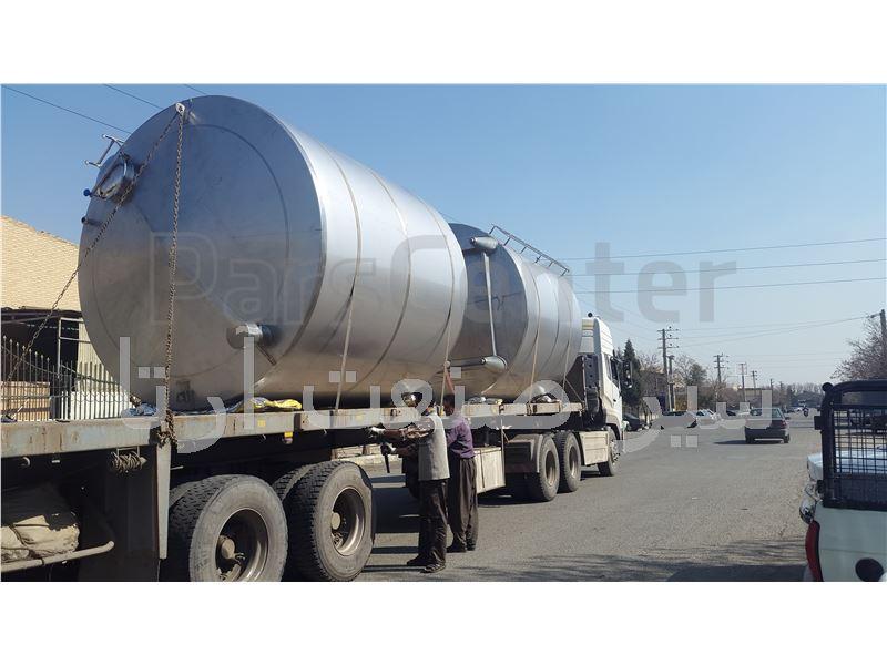 مخزن ذخیره آب 15000 لیتری ( نوع ورق مصرفی 304 و 316 )