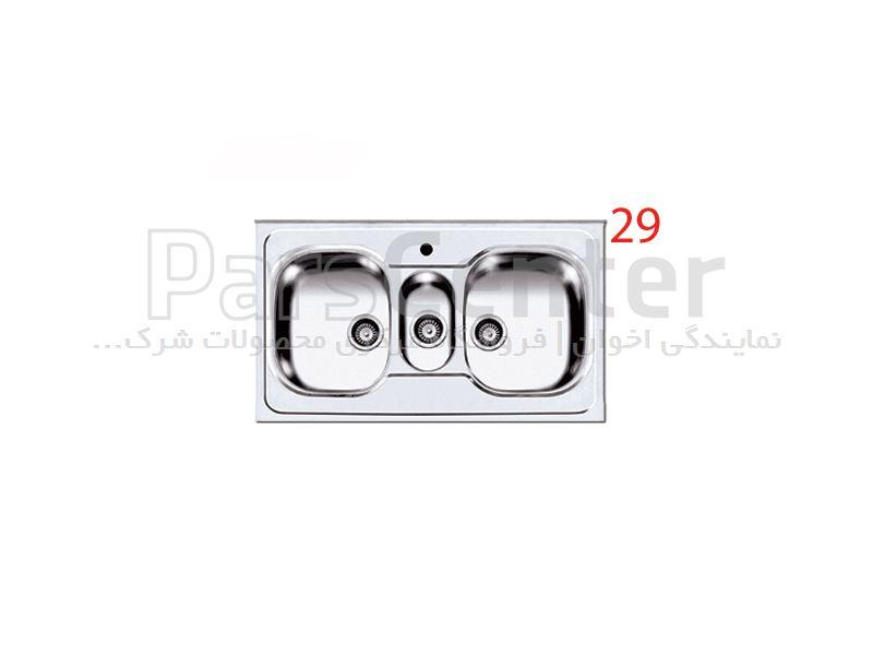 سینک ظرفشویی روکار اخوان فانتزی سه لگن مدل 29