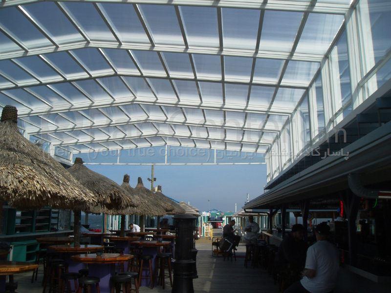 Building skylight_ نورگیر سقف متحرک  مجتمع  تجاری