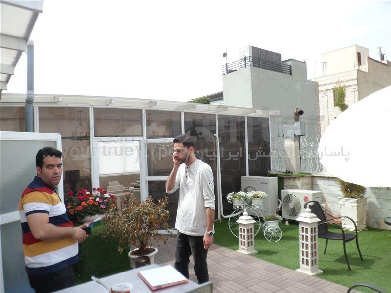 ساخت سالن غذا خوری اداری بر رو پشت بام - تهران خیابان تخت طاووس