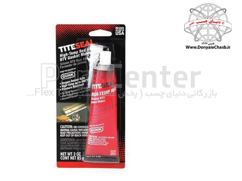 چسب حرارتی قرمز گانک GUNK Red Silicone RTV Gasket Maker آمریکا