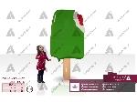 طراحی و ساخت ماکت تبلیغاتی بستنی طالبی دیواری