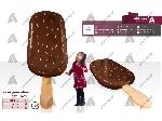 طراحی و ساخت ماکت تبلیغاتی بستنی مگنوم