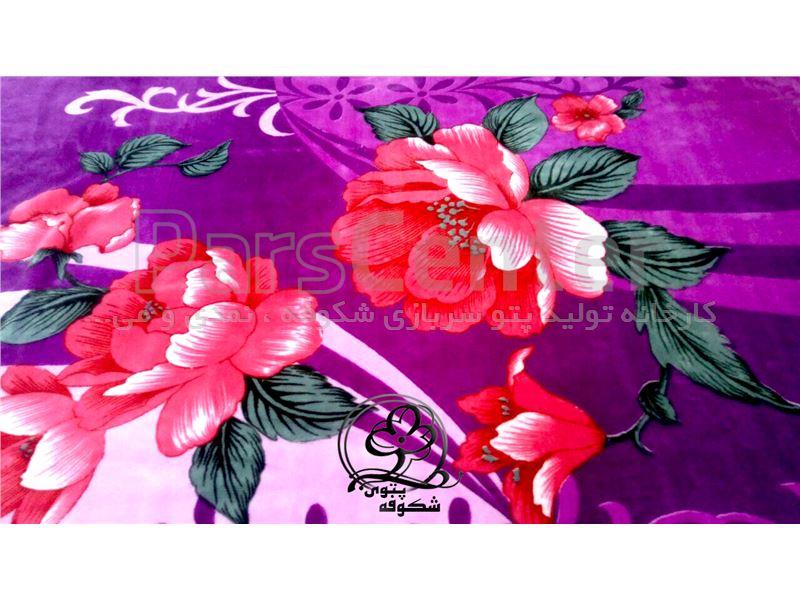 پتو سیلک گلدار شکوفه (غیر برجسته)